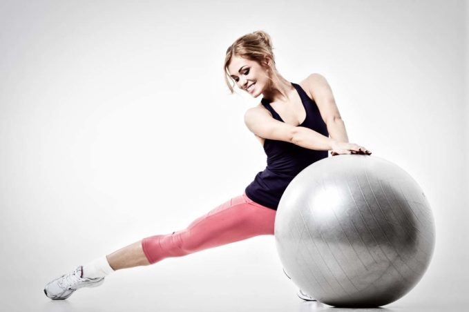 Yoga with Exercise Ball