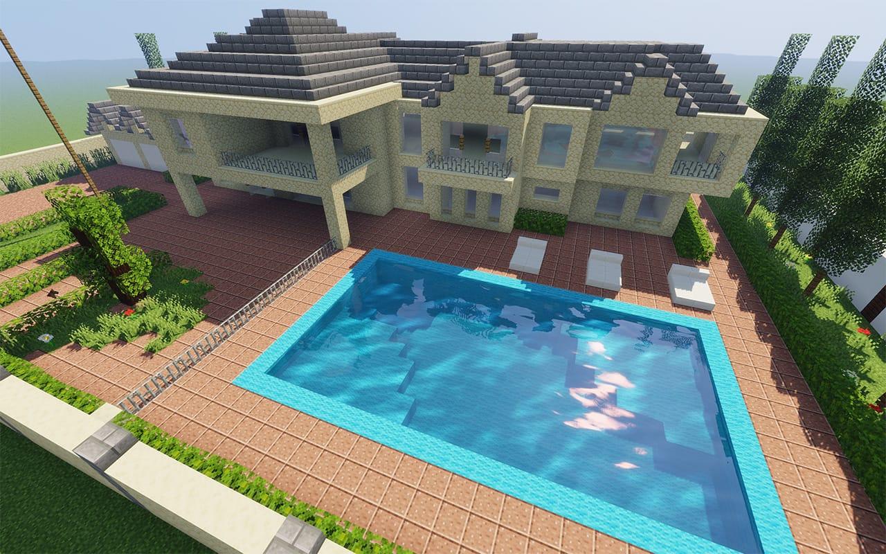 Beverly Hills Mansion in Minecraft