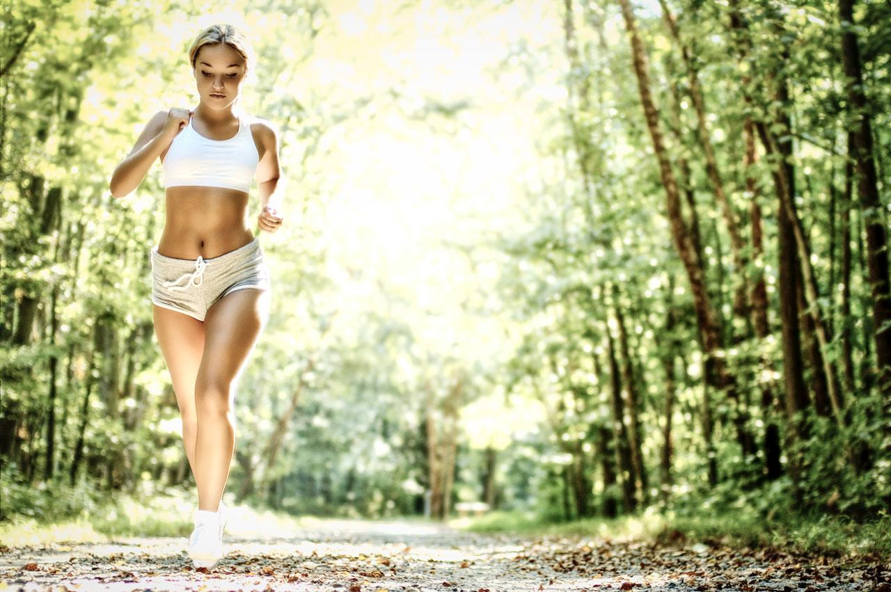 Female Runner in the Woods