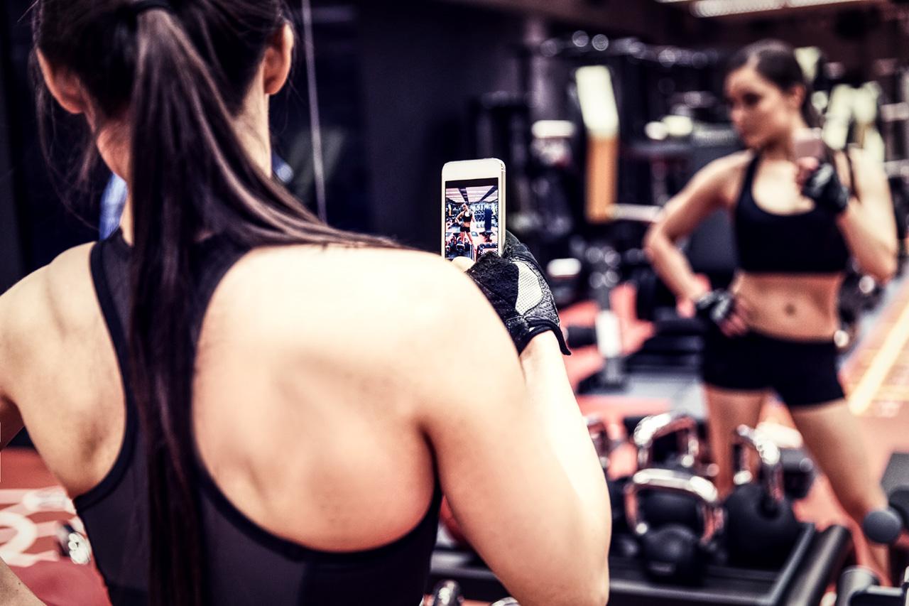 Instagram Gym Selfie