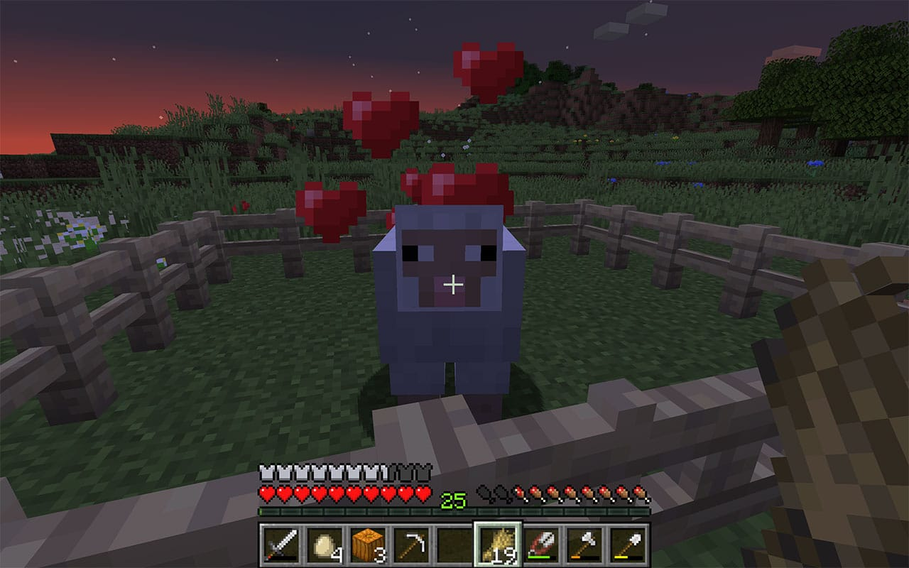 Minecraft Sheep with Hearts