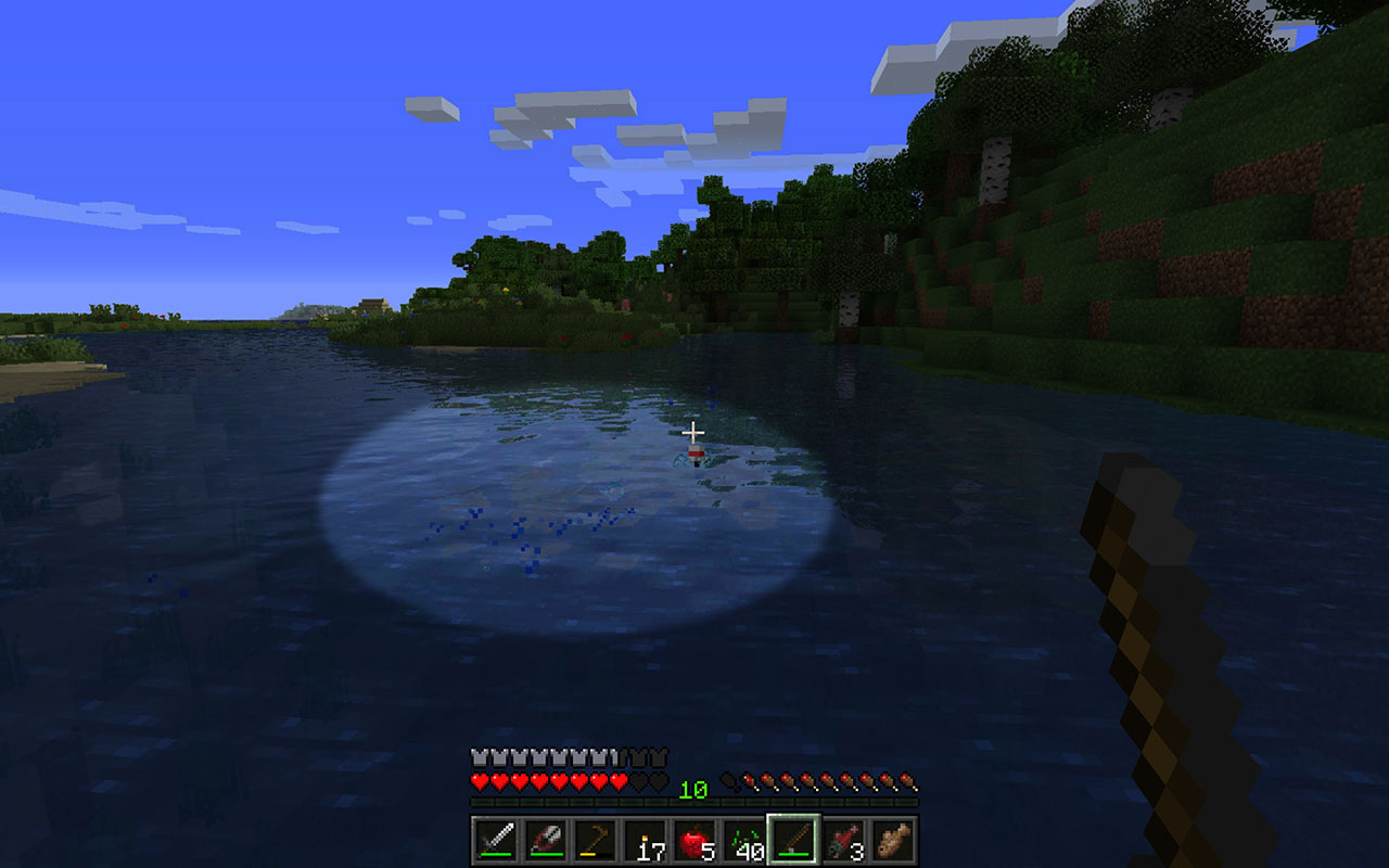 Minecraft - Fishing Bubbles