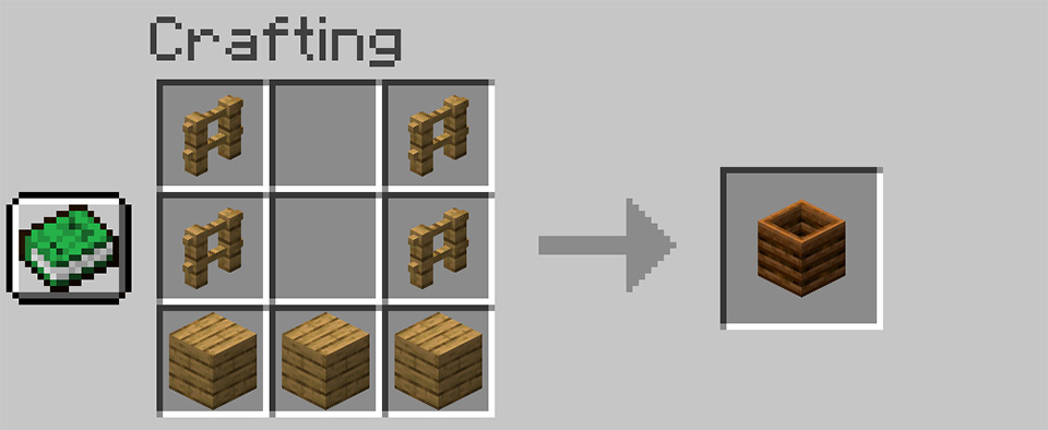 Crafting a Composter in Minecraft