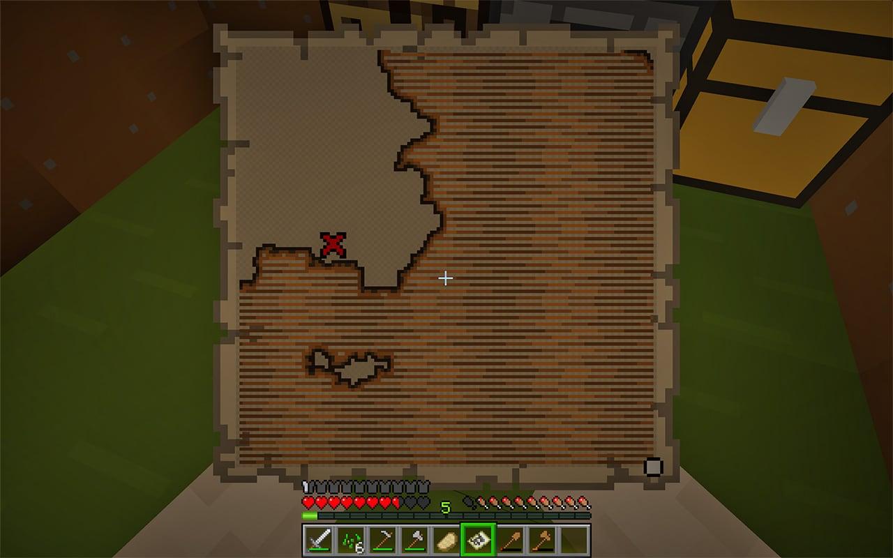 minecraft treasure map