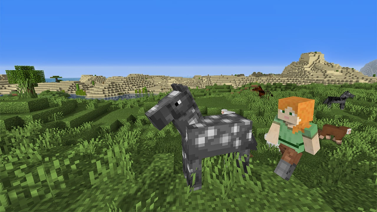 Approaching a Horse in Minecraft
