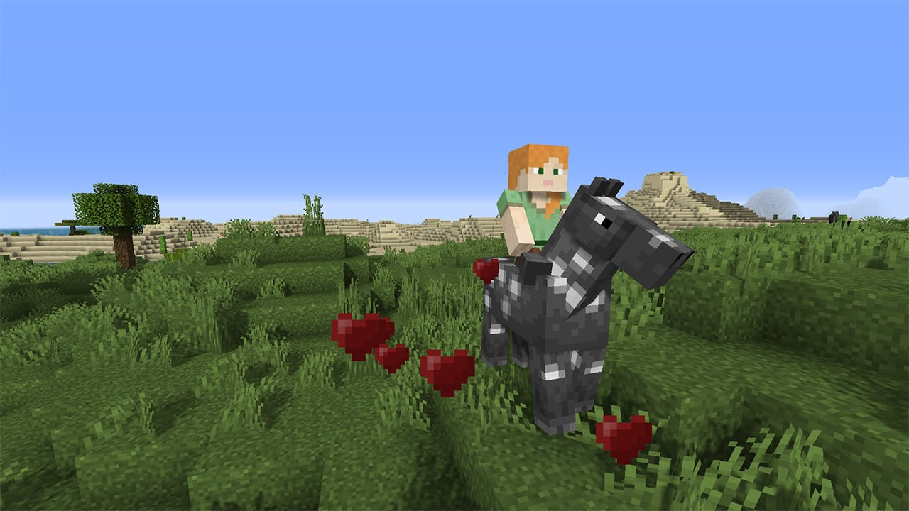 The horse is tamed in Minecraft