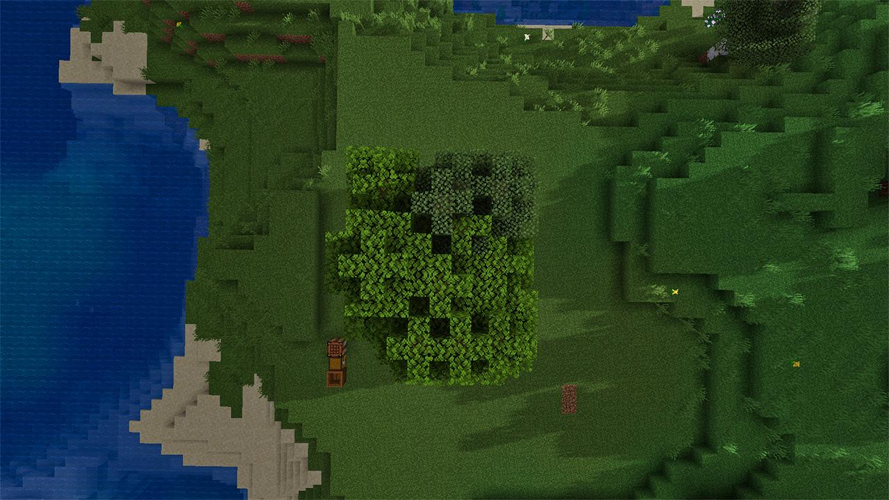 Minecraft Tree Farm - Overhead view