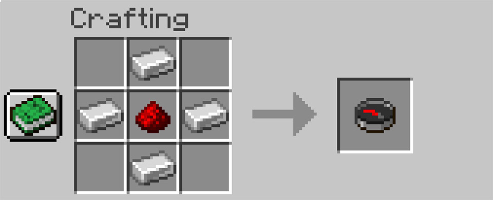Crafting a compass in Minecraft