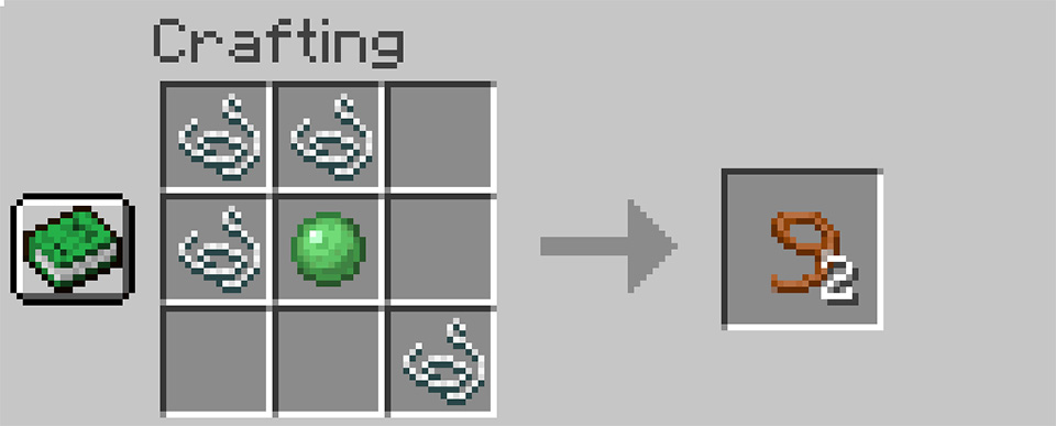 Crafting a Lead in Minecraft