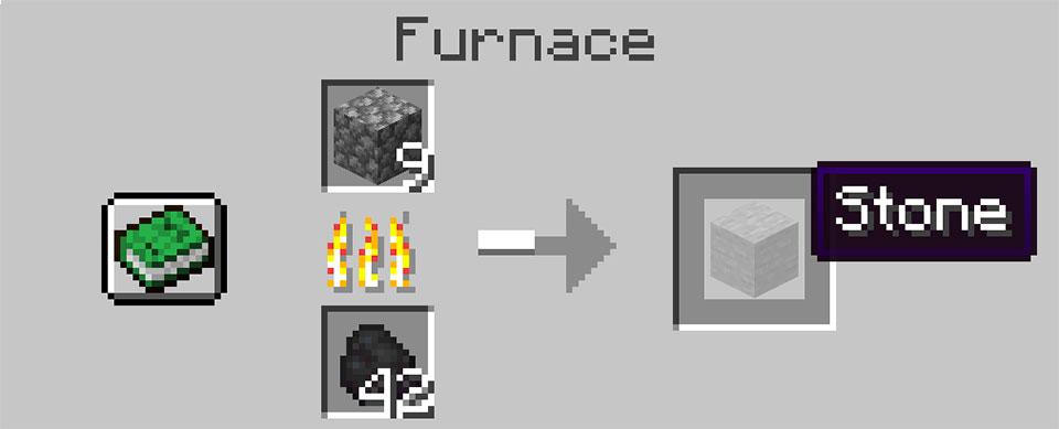 Cobblestone in the furnace