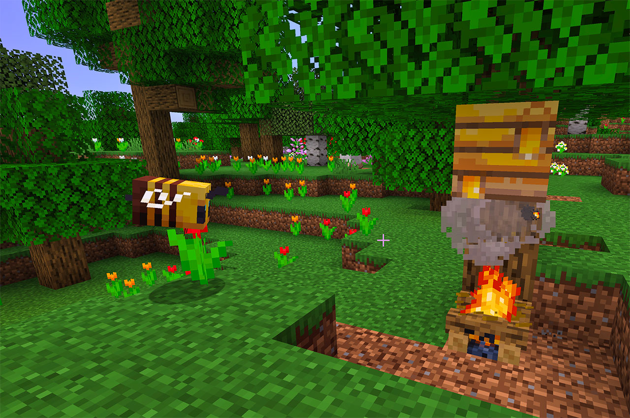 Bee's Nest with Campfire underneath