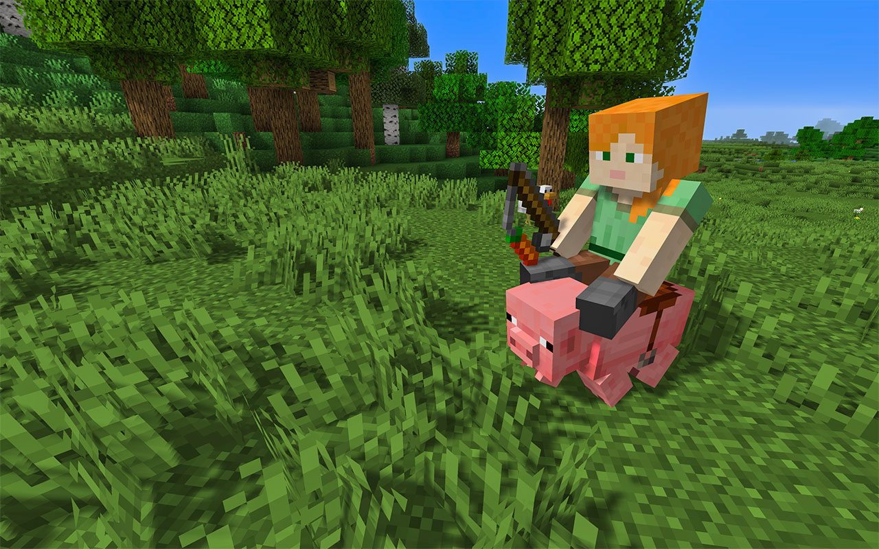 How to Ride a Pig in Minecraft