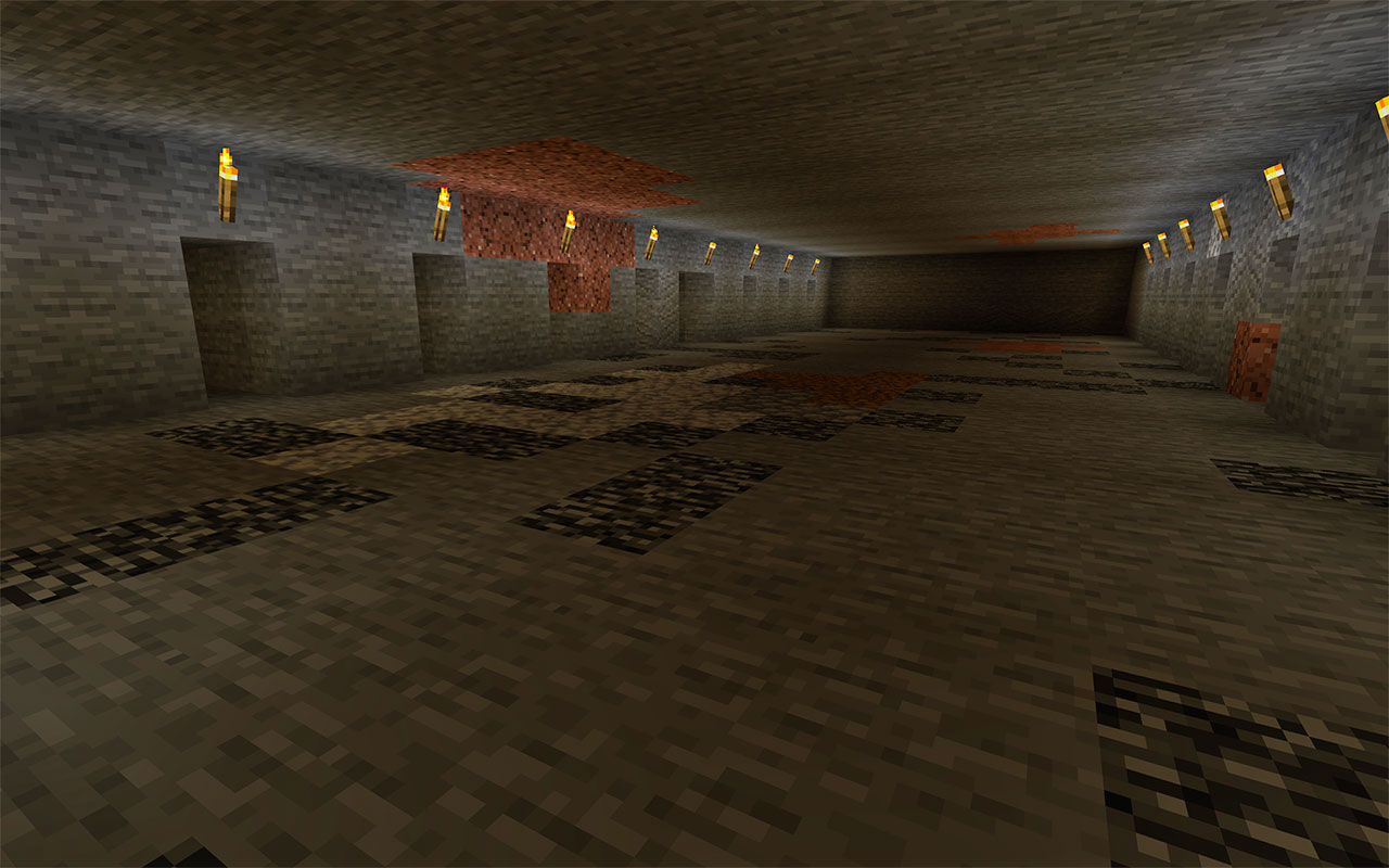 A typical Minecraft Branch Mine
